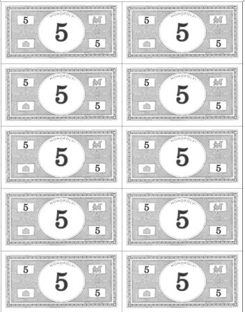 Image Result For Monopoly Money Printable Play Money