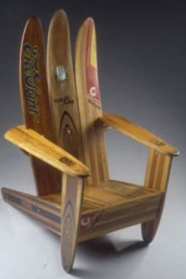 Adirondack Chairs from vintage wooden water skis