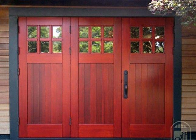 Best 25 wooden garages ideas on pinterest wooden garage for 17 ft garage door
