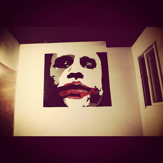 """Joker graffiti stencil cutting to spray completed in 12 hours.  #joker #graffiti #heathledger #creative #streetart #urbanart #art #DC #hoozinc #whatwedo"" Photo taken by @hoozinc on Instagram, pinned via the InstaPin iOS App! http://www.instapinapp.com (04/22/2015)"