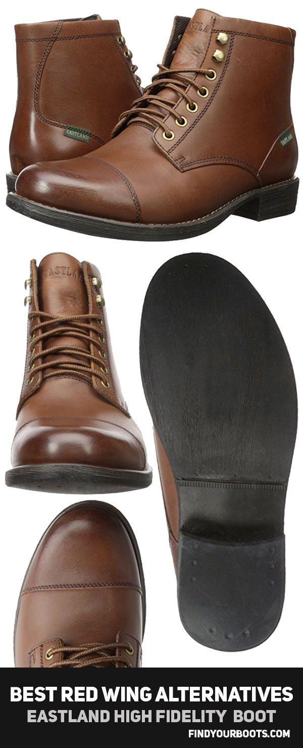Eastland High Fidelity men's boot - Cheap boots under $100 like Red Wing Iron Ranger - http://www.findyourboots.com/cheaper-alternatives-to-red-wing-heritage-boots/