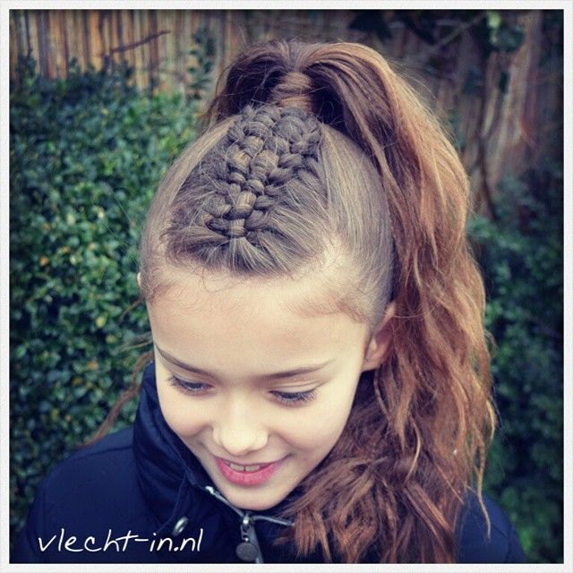 Zipper braid and high ponytail combo.