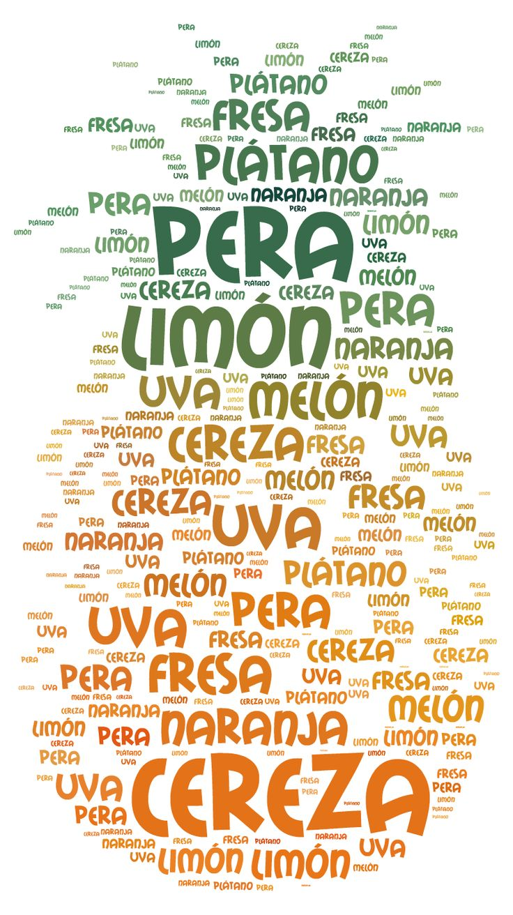 17 best images about spanish word clouds on pinterest