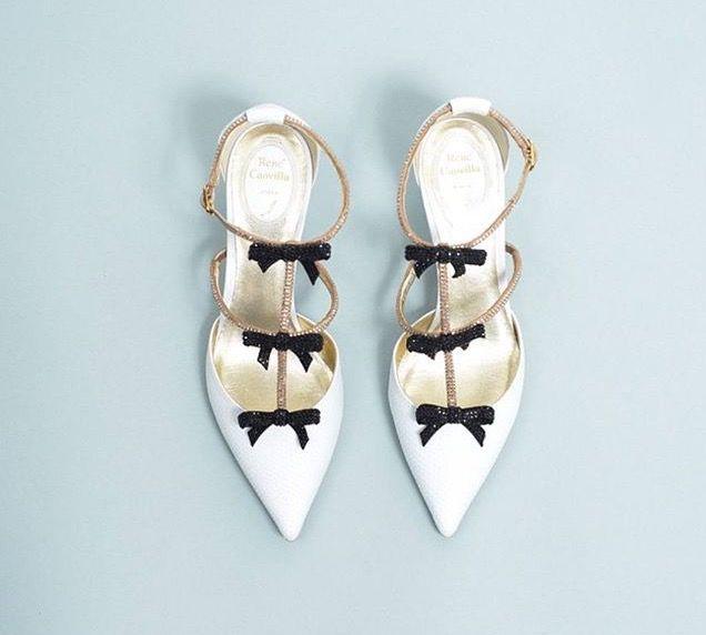 Zapatos de novia de Dior en blanco y negro