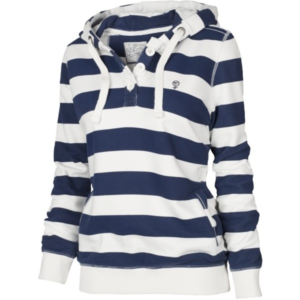 Blue and white hoody