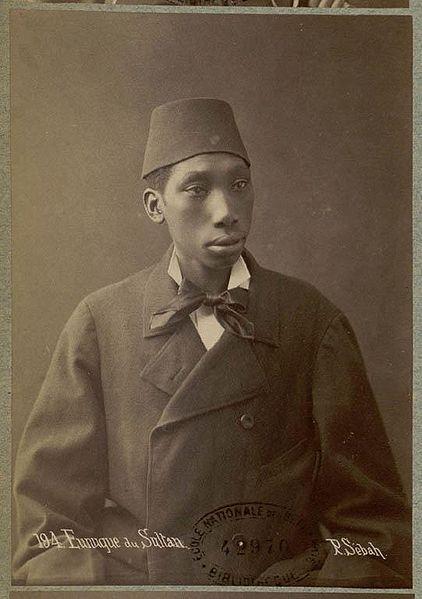 Black eunuch of the Ottoman Sultan. Photo by Pascal Sebah, 1870s