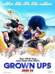 Grown Ups - After their high school basketball coach passes away, five good friends and former teammates reunite for a Fourth of July holiday weekend.