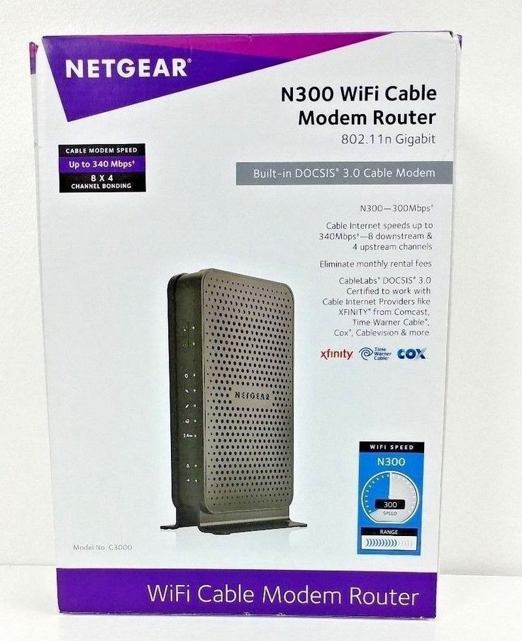 Netgear N300 WiFi Docsis 3. 0 Cable Modem Router Opened Tested #NETGEAR