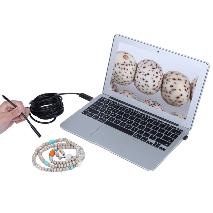10mm Dia USB Endoscope Cmos 5m Long Cable  Waterproof  4-led Borescope Endoscope Inspection Car Visual Camera Copper Pipe Video