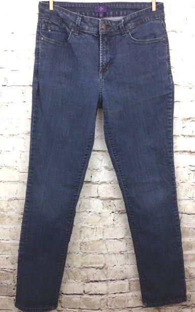 NYDJ Not Your Daughters Womens 8 Skinny Jeans Lift Tuck Technology Dark Denim  #NotYourDaughtersJeans #SlimSkinny