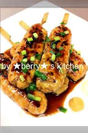 節約レシピ♪ムネ肉でつくねの照り焼き♪の画像