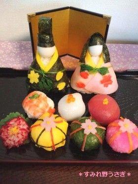 ひな祭りのお寿司*お雛様とてまり寿司
