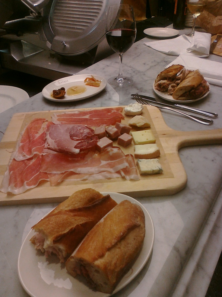 Nice wine & food spread at Eataly NYC