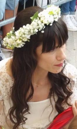 Elisa Toffoli durante il suo matrimonio