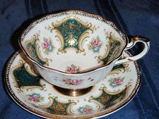 Paragon Tea Cup and Saucer - Gorgeous gold detailed set from the 1950's