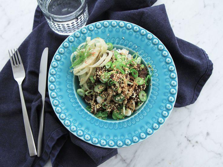 Yakiniku med picklad fänkål | Recept från Köket.se