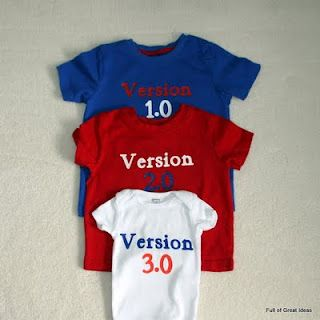 Full of Great Ideas: Matching T-shirts for kids - Version 1.0, 2.0, and 3.0