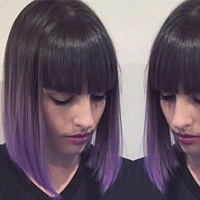 * Purple dipped bob...by @chrisweberhair #btcapproved #btcpics