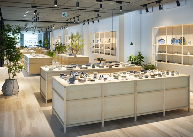 Swedish studio Claesson Koivisto Rune has fitted out this Japanese showroom selling European ceramics using pale wooden display furniture an...