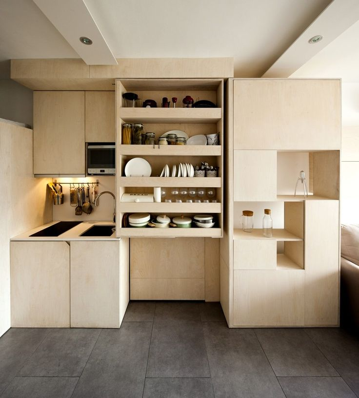 Inside Apartments Cheap: Transforming Box Makes It Possible For Family Of Three To