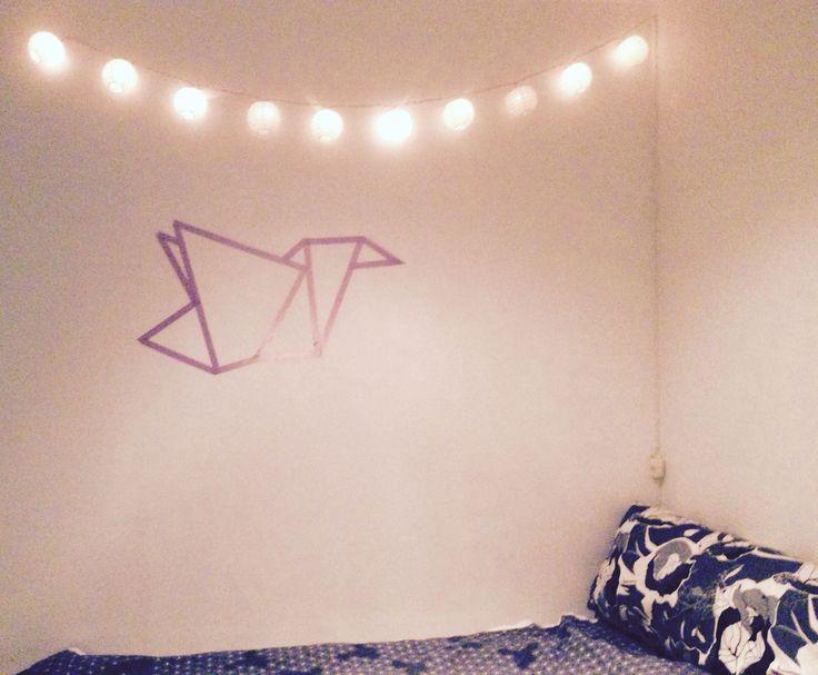 DIY tape art #tape masking, make this wall art yourself!
