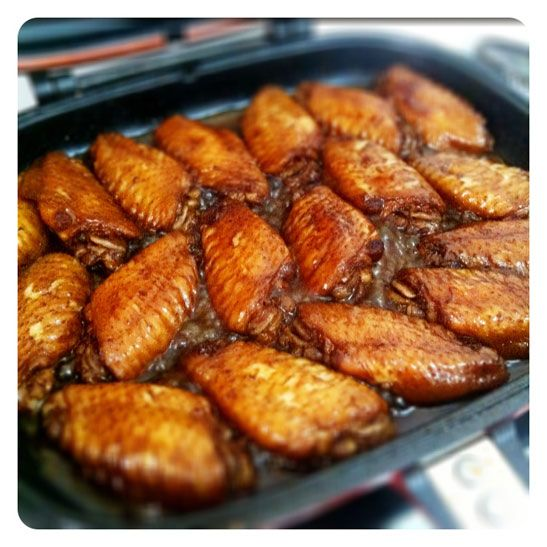 Method:-  1. Marinate chicken wings with all the above ingredients except Coke, overnight in the fridge.  2. Arrange the marinated chicken wings on HCP, cover and cook for about 2 minutes on ea...