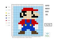 Mario Brothers--PDF for 12 different Mario Brother's quilting patterns.