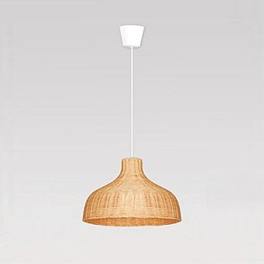 Woodland Drive Collection Hand-Woven Wicker LED Pendant Light