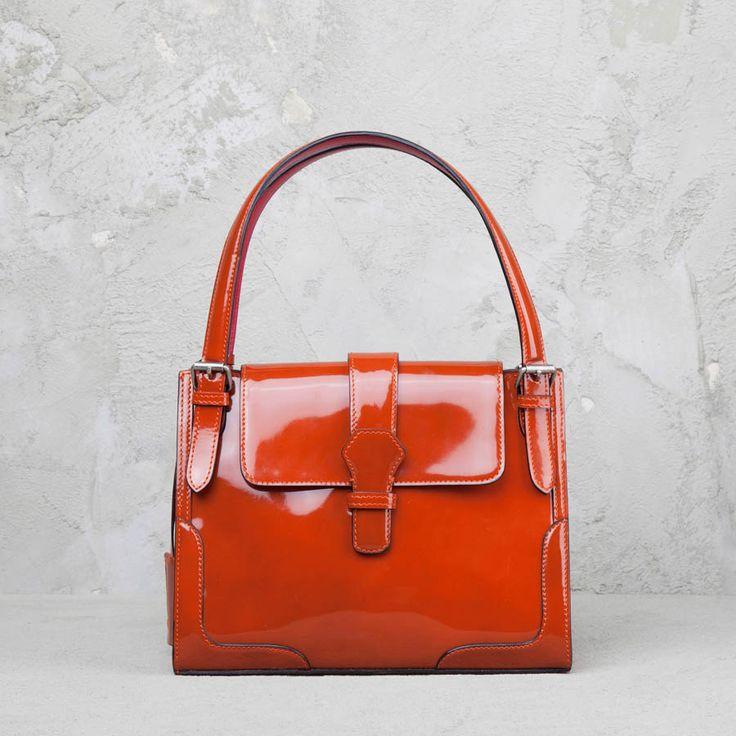 Uptown Borsa in Pelle Arancione #EduardoWongvalle #shopper #bags #fashion