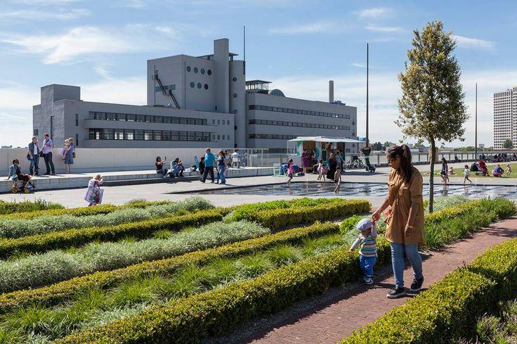 Dakpark Rotterdam M4H met Rotterdam Science Tower op achtergrond