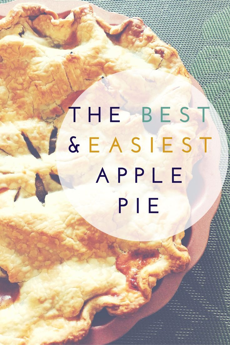 This is the Best and Easiest Apple Pie Recipe you will ever try.  For more delicious recipes, check out: www.onlygirl4boyz.com