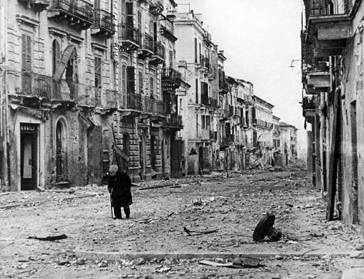 The ruins of Ortona, Italy, after liberation from the German army by Canadian forces, December 1943. ( Encyclopædia Britannica, Inc.)