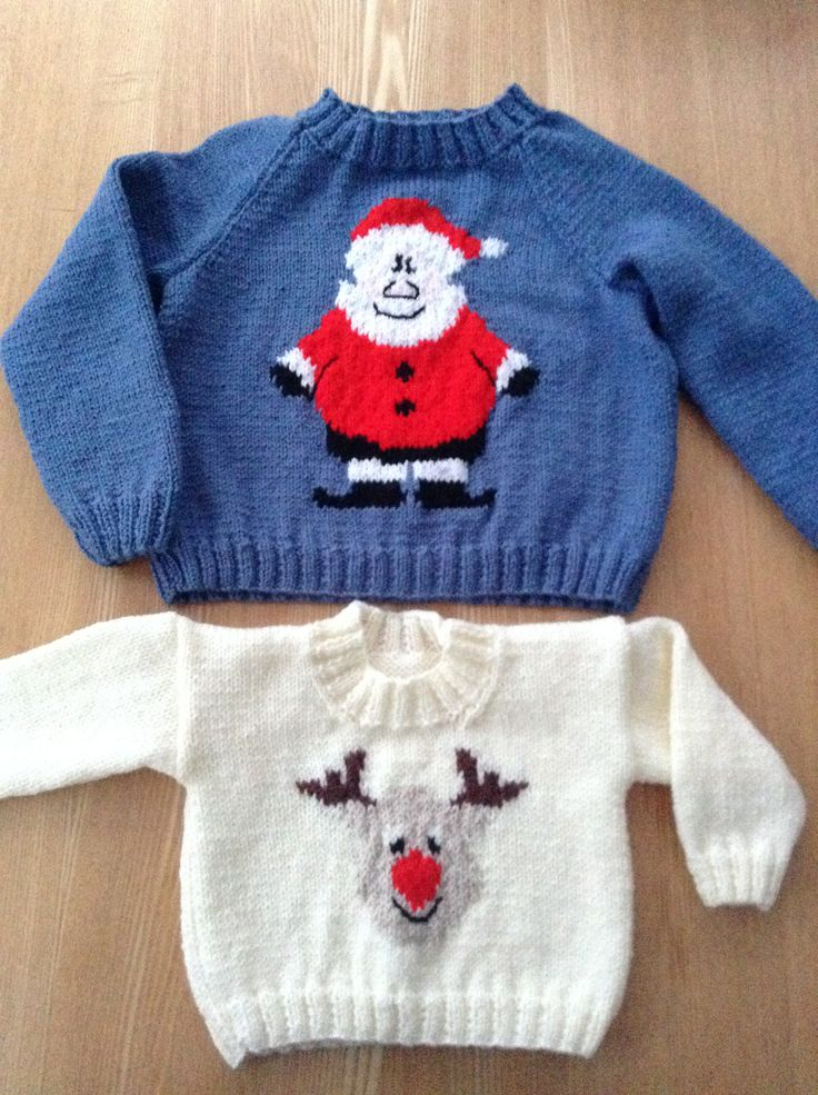 Christmas jumpers for Milly & Ellie