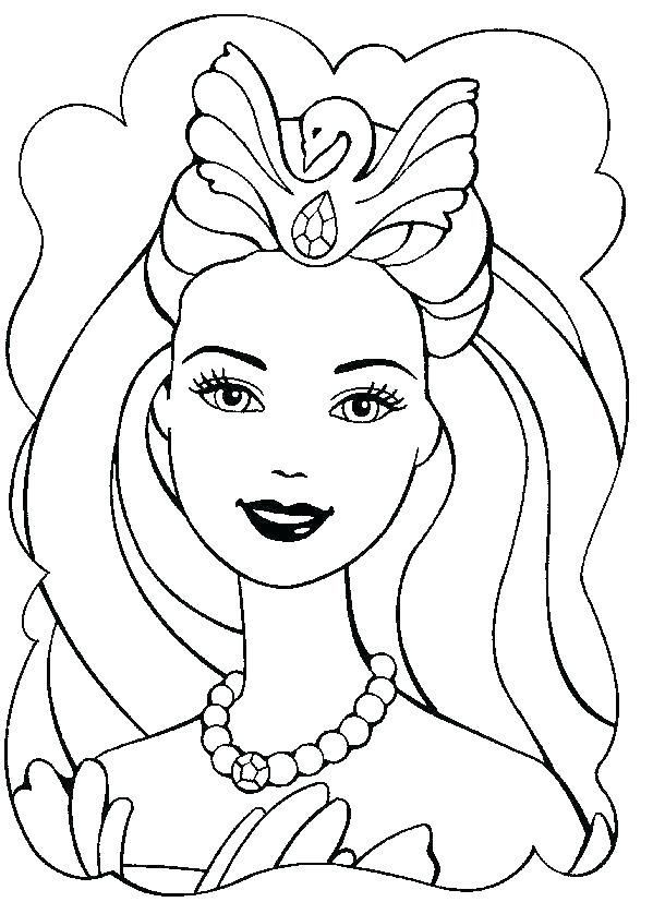 Barbie Face Coloring Pages Sheets Books As Well Of Girls Beautiful Barbie Coloring Barbie Coloring Pages Cute Coloring Pages