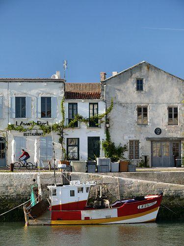 Fishing boat at the Harbour, Taken at Saint-Martin de Ré, Charente maritime, France,