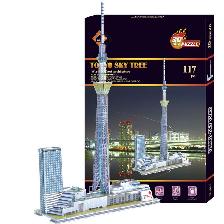 3D puzzle Tokyo Sky Tree: http://www.goomart.net/products/3d-puzzle-model-japan-tokyo-sky-tree-3d-model-childrens-toys-puzzles-game-intelligent-toys/ #Japan #Tokyo #TokyoSkyTree