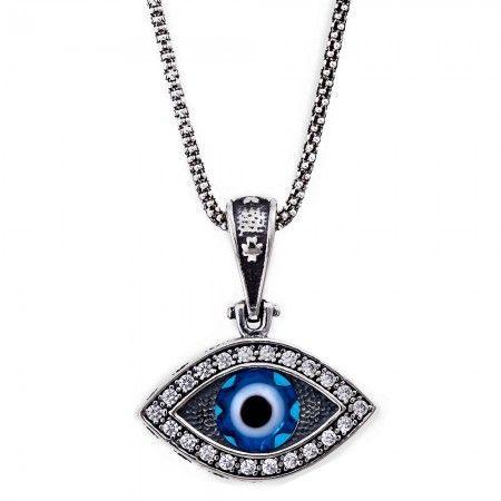 107 best evil eye jewelry images on pinterest evil eye jewelry greek mati evil eye necklace aloadofball Images