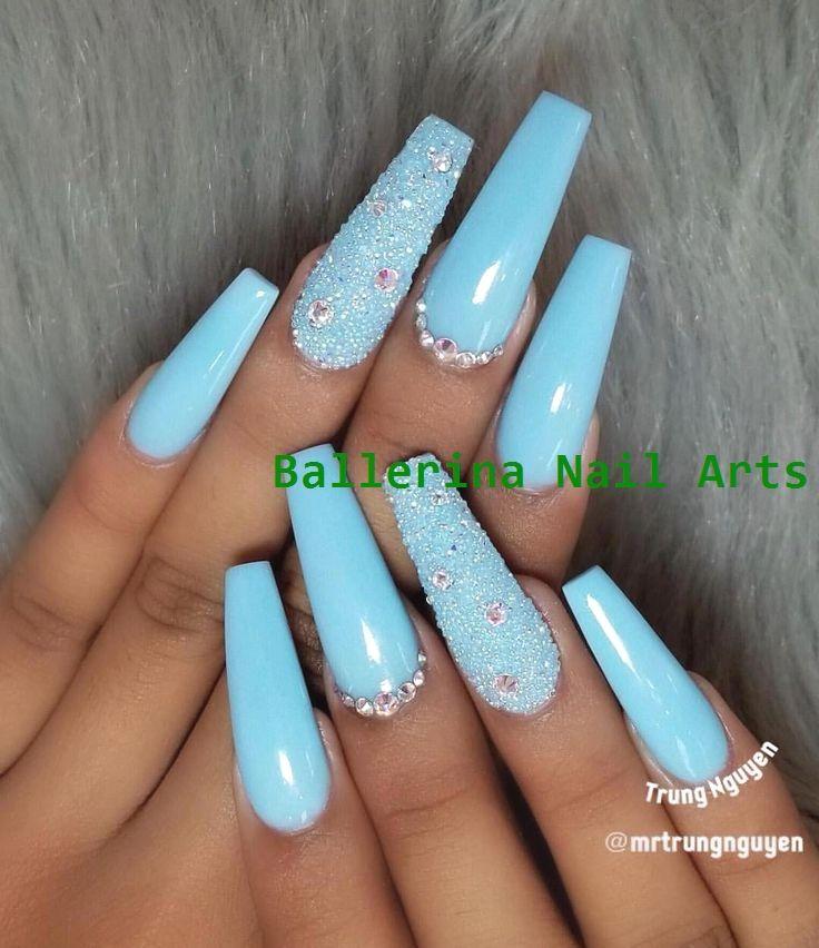 Trending Ballerina nails designs #nailartideas #ballerinanail