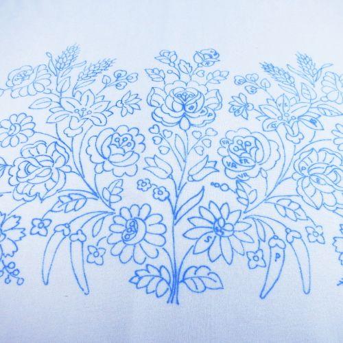 ハンガリー刺繍図案入りピローケース カロチャ刺繍