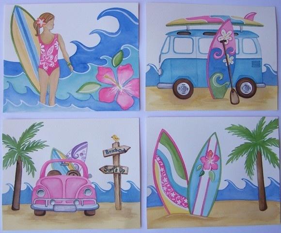 17 best images about hawaiian baby girl nursery on for Surf nursery ideas