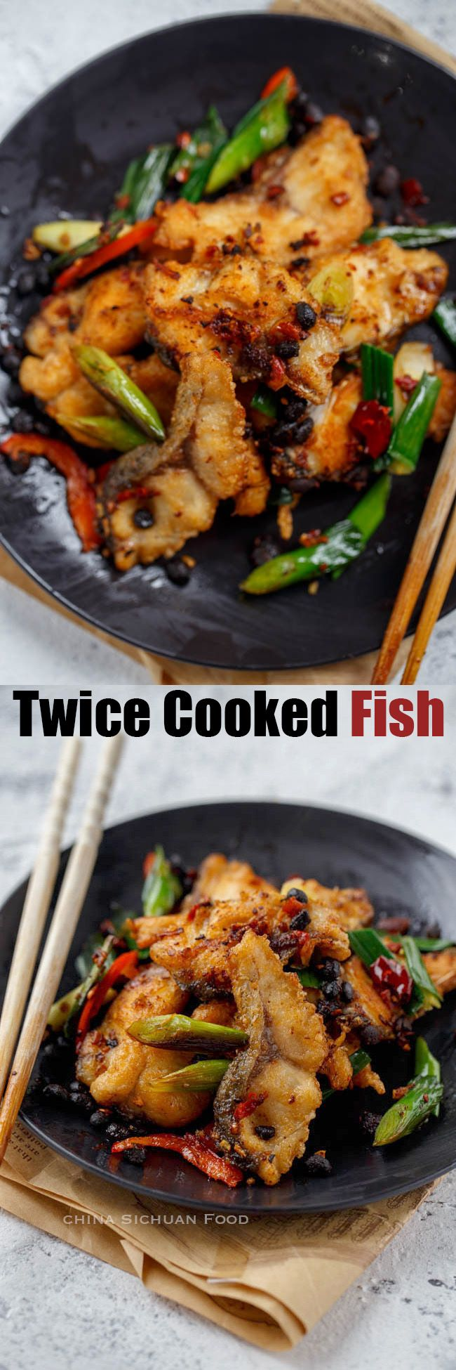 Twice cooked fish