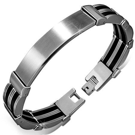 Check out this item in my Etsy shop https://www.etsy.com/ca/listing/248129438/engravable-mens-unisex-dark-silver-black