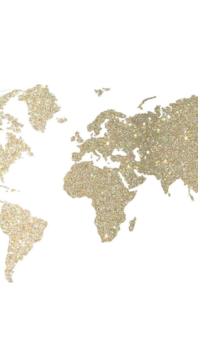 map in gold - iPhone wallpaper