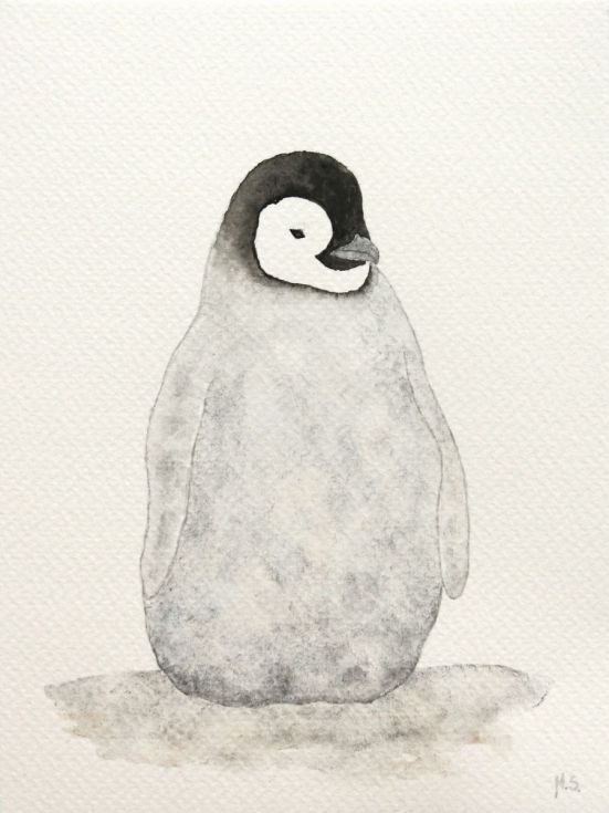 Buy The emperor penguin chick, Watercolour by Malgorzata Stepniak on Artfinder. Discover thousands of other original paintings, prints, sculptures and photography from independent artists.
