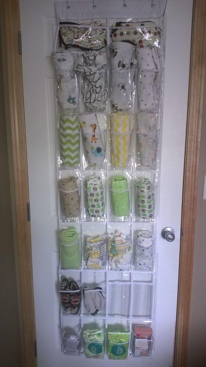 Shoe organizer into nursery organizer!