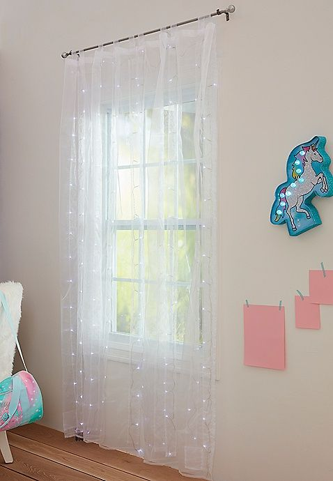 White Light Up Curtains Justice Girl Bedroom Unicorn Bedroom