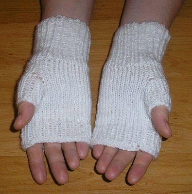 Štrikované bezprstové rukavičky | PLETENÍ – NÁVODY