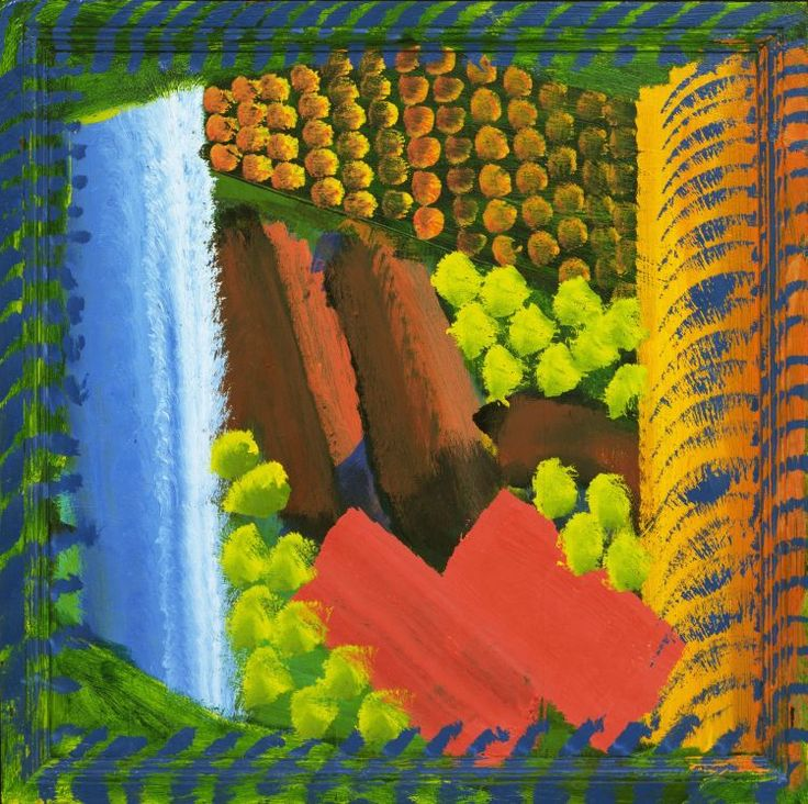 Red Bermudas by Howard Hodgkin