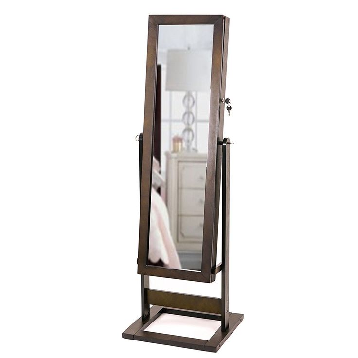 Beautiful Minimalist Full Length Mirror Free Standing Jewelry Armoire