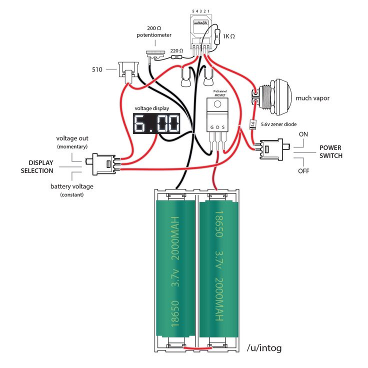 Okr  Raptor 10a Box Mod Diagram